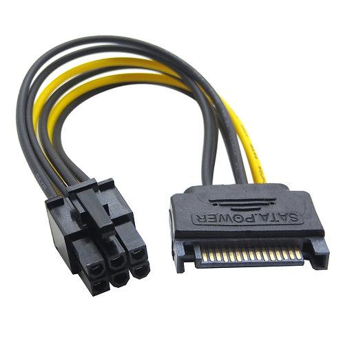 Cable Adaptador Sata A Pci E 6 Pin Mineria Vga