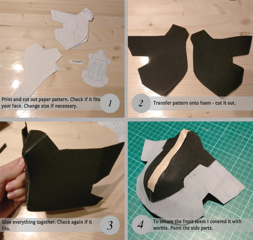 Winter Soldier Mask pattern and first steps