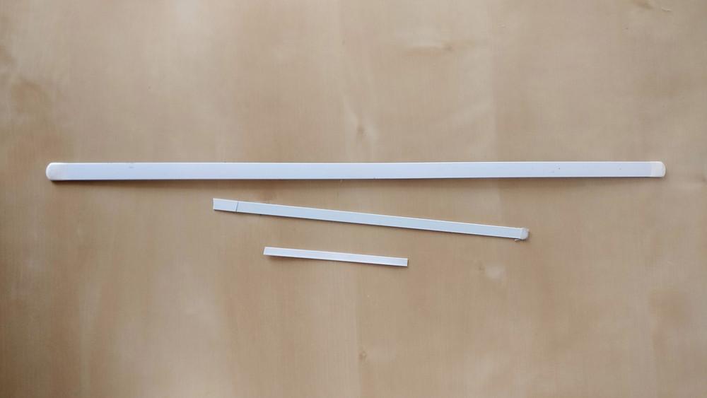 Miederstäbe, Corsagenstäbe aus Stahl, Planschetten