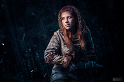 Ygritte from Game of Thrones ready to fight