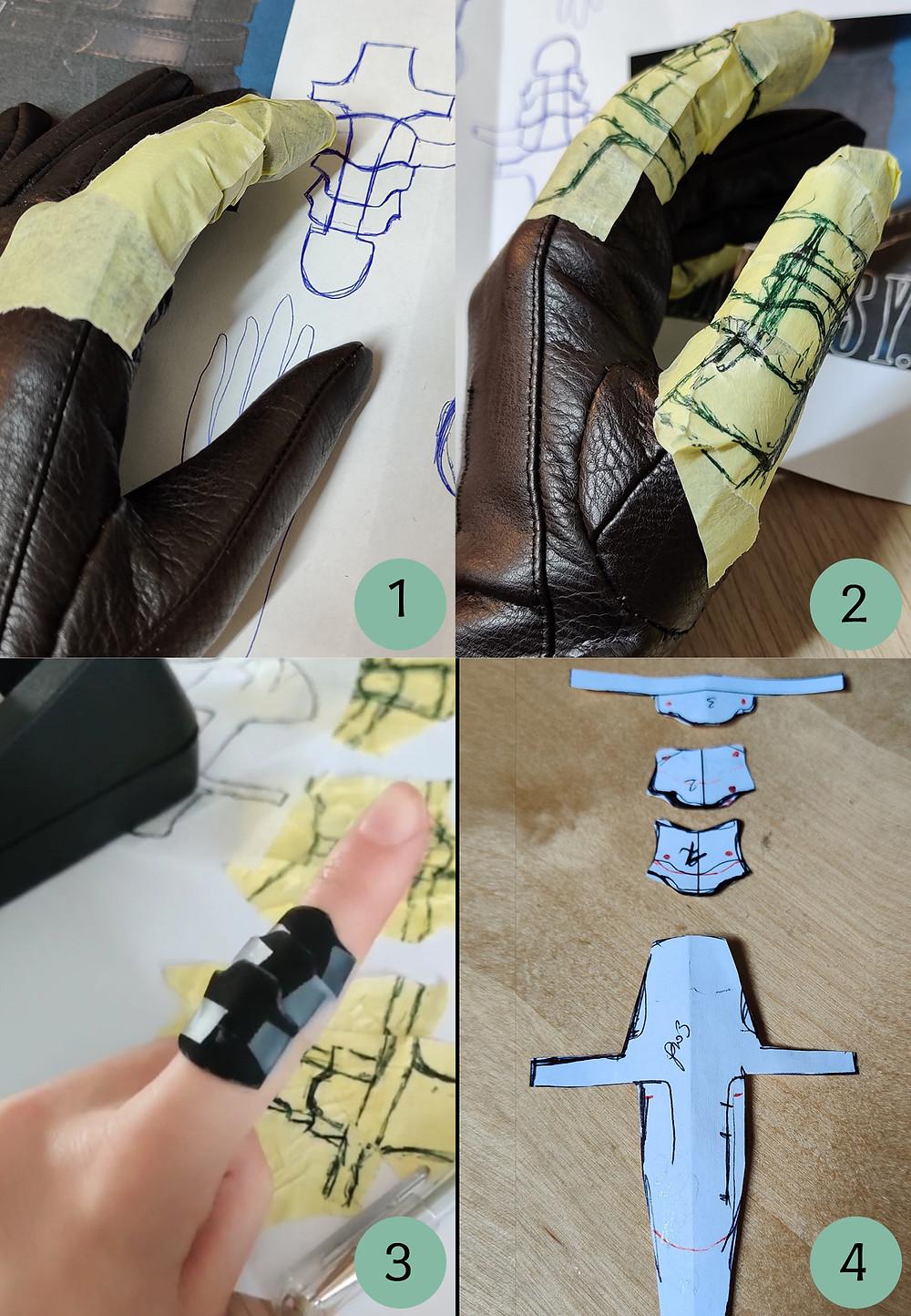 Cosplaytutorial für Fingerrüstung. Anfertigung eines Schnittmusters.