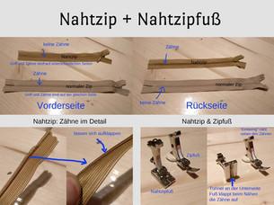Der Nahtzip und sein Füßchen