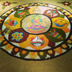 Giant Rangoli in Kathmand