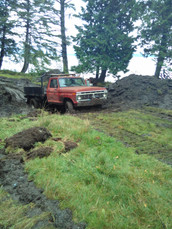 Getting stuck in the mud! Needed a winch!