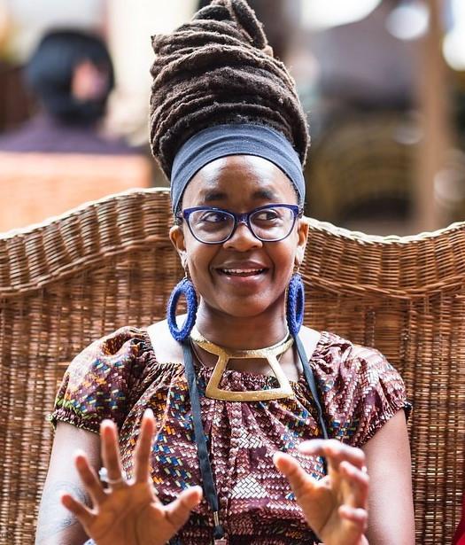 A smiling picture of Nnedi Okorafor