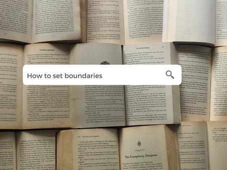How to set boundaries: A super-short guide