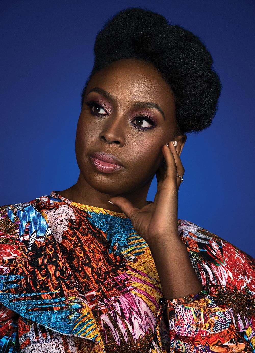 A vibrant image of Adichie
