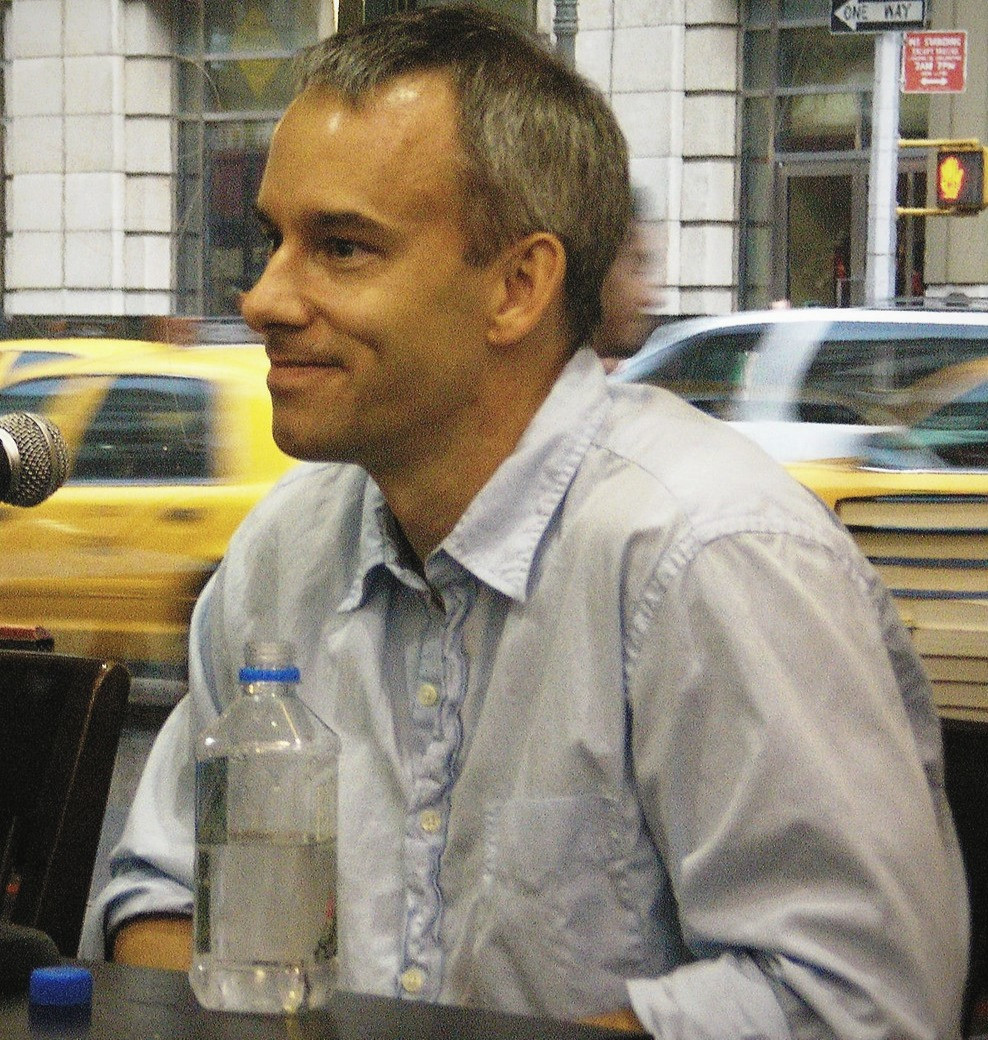 A side profile of the author, Scott Smith