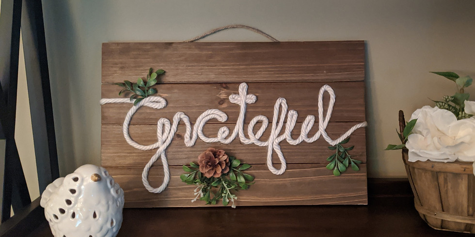 Gratitude Hanging Rope Art