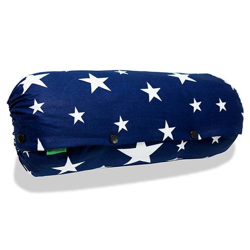 抱っこひも収納カバー [紺星スター] 日本製 リバーシブル しっかり生地 [90日保証付] acortile(アコルティーレ)