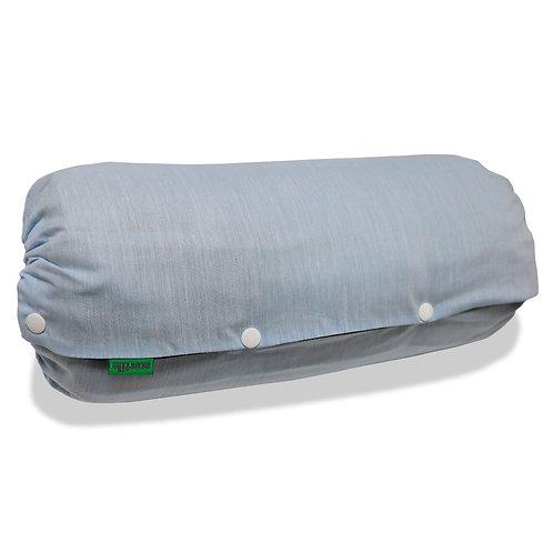 抱っこひも収納カバー [デニム風ライトブルーシャンブレー] 日本製 リバーシブル しっかり生地 [90日保証付] acortile(アコルティーレ)
