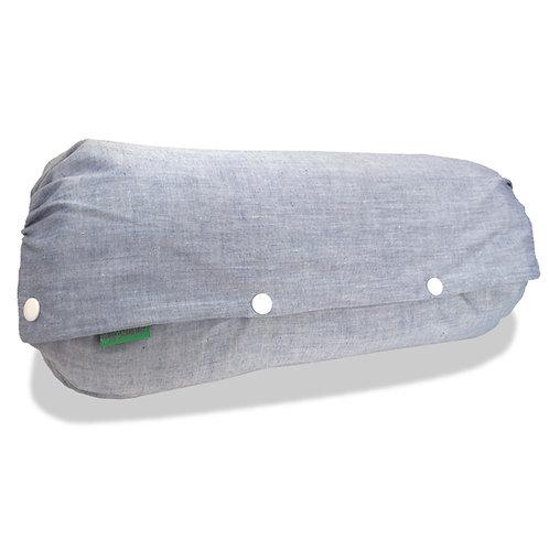 抱っこひも収納カバー [デニム風シャンブレー青] 日本製 リバーシブル しっかり生地 [90日保証付] acortile(アコルティーレ)