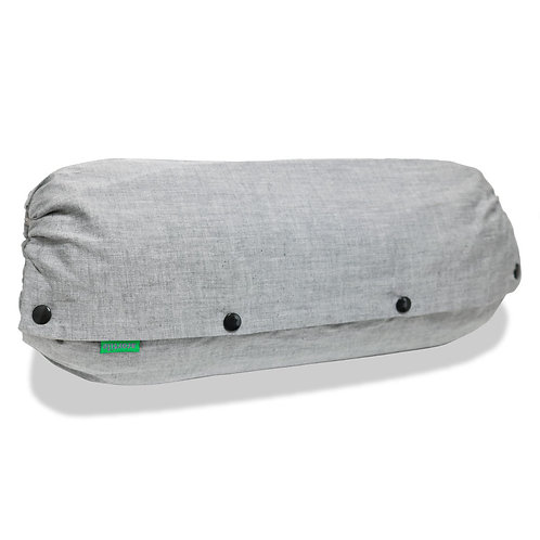 抱っこひも収納カバー [デニム風シャンブレー灰] 日本製 リバーシブル しっかり生地 [90日保証付] acortile(アコルティーレ)
