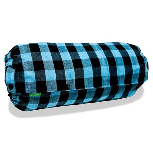 抱っこひも収納カバー [ギンガム青] 日本製 リバーシブル しっかり生地 [90日保証付] acortile(アコルティーレ)
