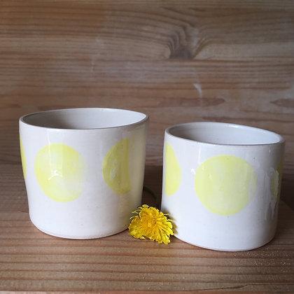 Petite tasse à café Lunes jaunes