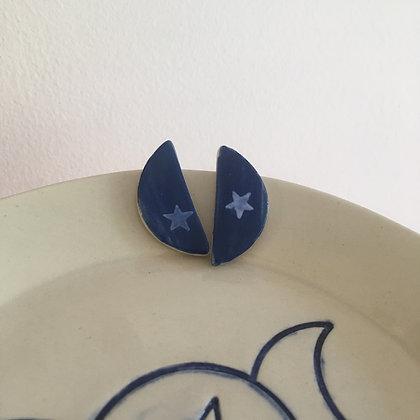 Boucles d'oreilles demi-lunes