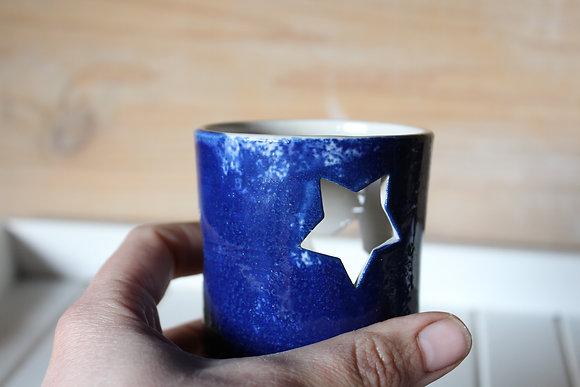 Photophore étoiles lune bleu nuit n°2