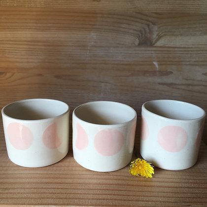 Petite tasse à café Lunes roses
