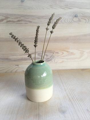 Vase moyen vert moiré
