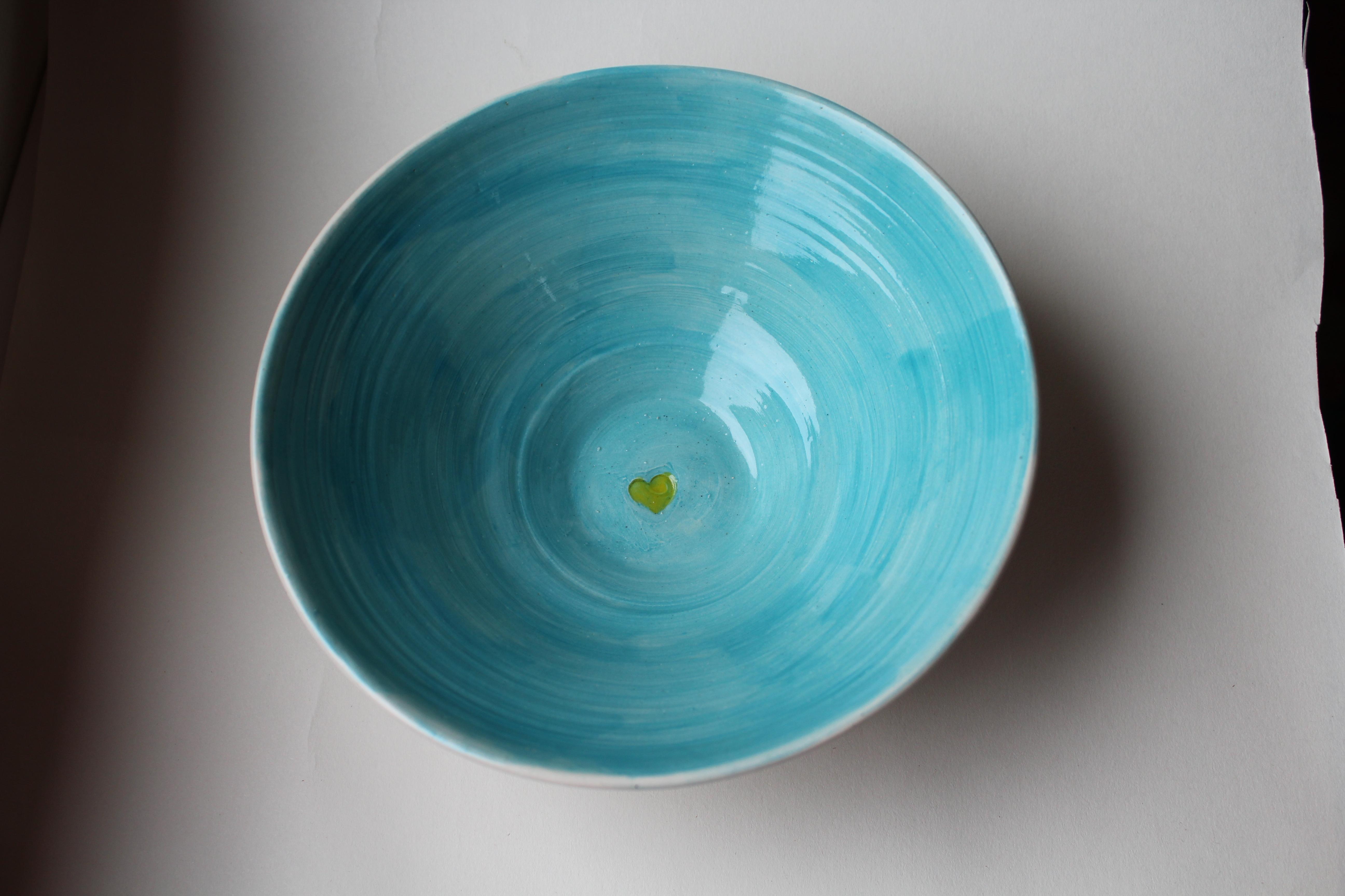 saladier turquoise
