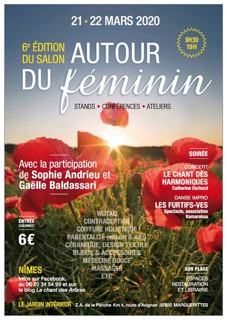 Retrouvez-moi au Salon Autour du Féminin 21-22 mars 2020