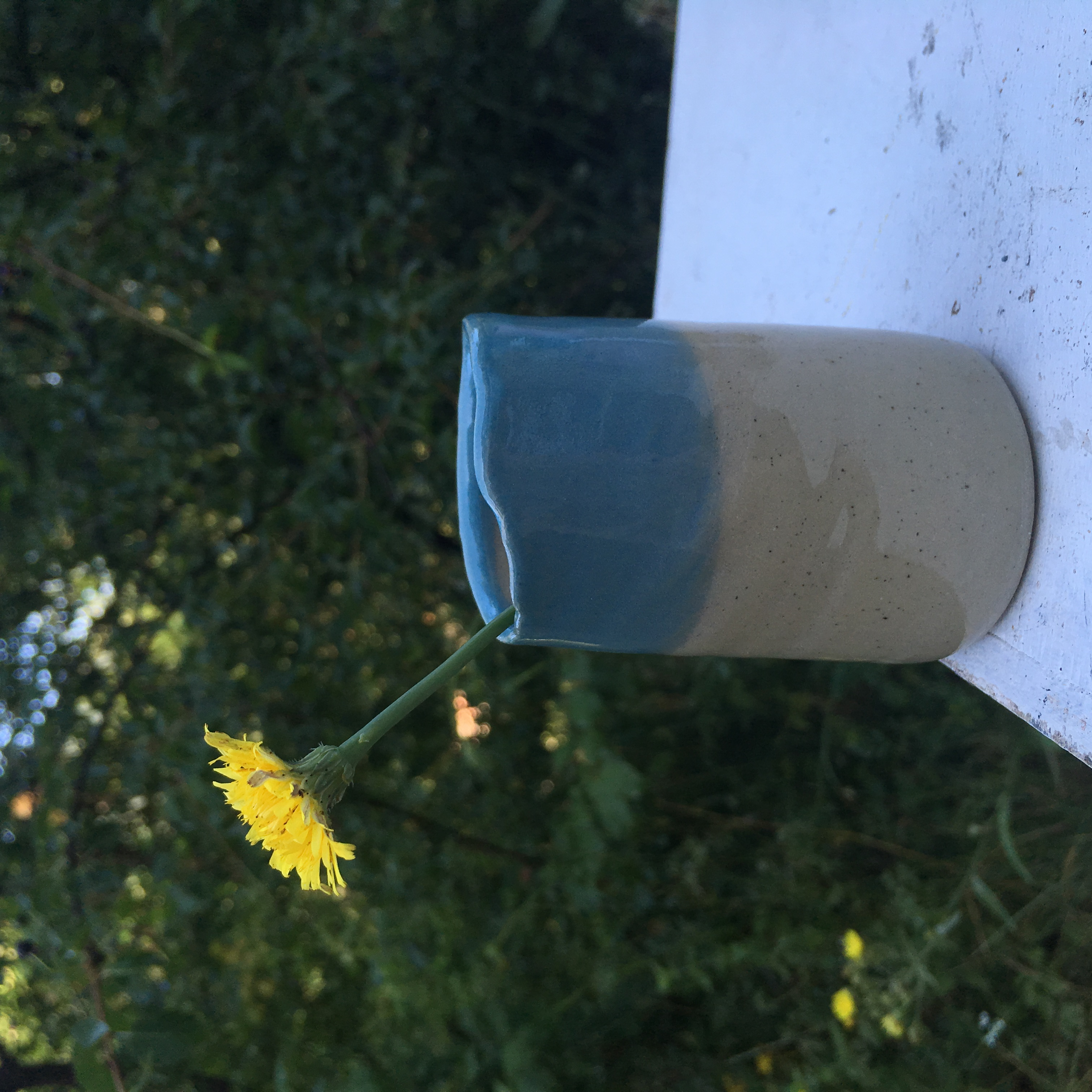 mini vase bleu