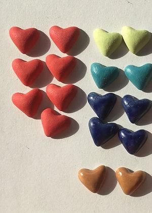 Boucles d'oreilles petits cœurs - couleur au choix