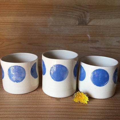 Petite tasse à café Lunes bleu ciel