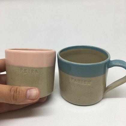 Petite tasse à café personnalisable