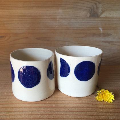 Petite tasse à café Lunes bleu nuit