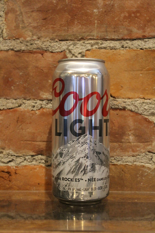 Coors Light Tall Can