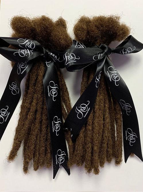 8 Inch -  Dreadlock Extensions - 100% Human Hair -#6 Dark Brown