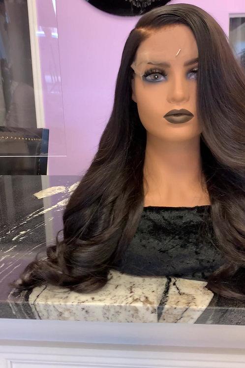"Custom Wig - Raw, Cuticle, Indian Hair - 24"" - 200% Density"