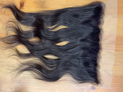 RAW INDIAN VIRGIN Hair 13x4 Trasparent Lace Frontal- Raw Natural Color