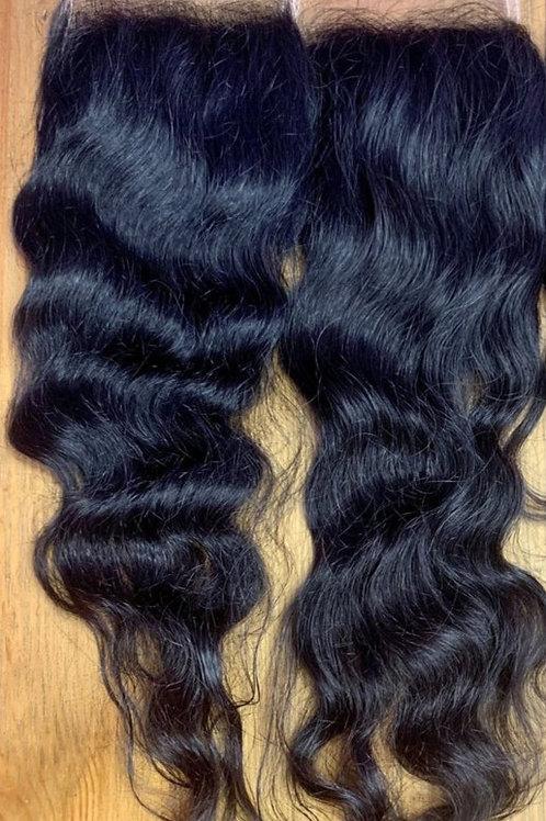RAW INDIAN VIRGIN Hair 5x5 Trasparent Lace Closure- Raw Natural Color
