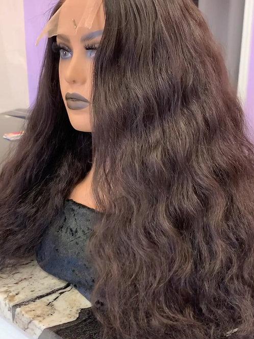 "Custom Wig - Raw, Cuticle, Indian Hair (Natural Wave) - 20"" - 200% Density"