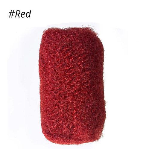Red Afro Kinky Bulk Hair