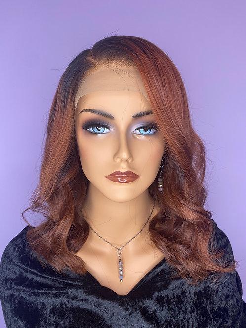 """Custom Wig - Indian Hair  - 14"""" - Auburn"""