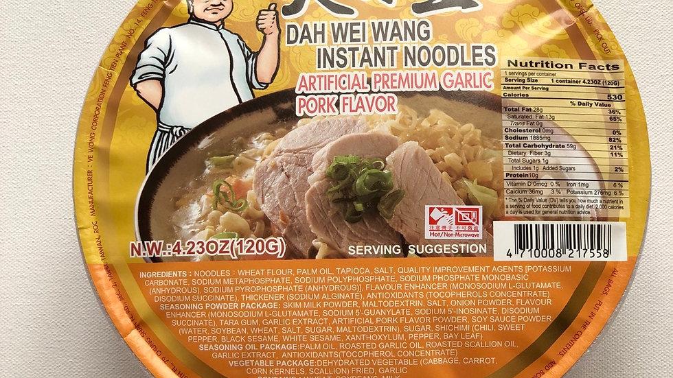 Dah Wei Wang Instant Noodles :Garlic Pork Flavor(120g)