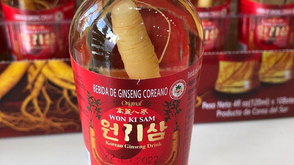 WONKISAM:Bebida de Ginseng Coreano (120ml)