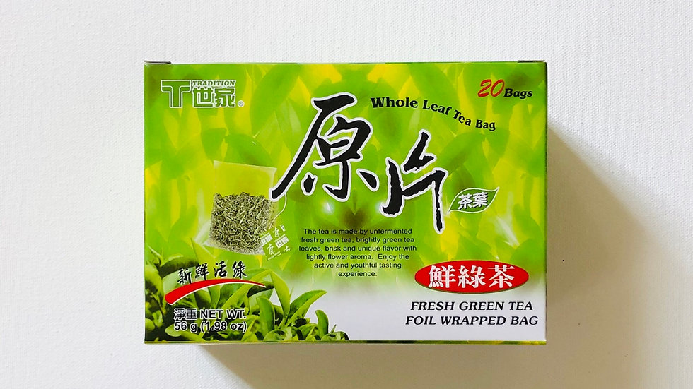 Green Tea:Foil Wrapped Bag (2.8g x 20 bags)