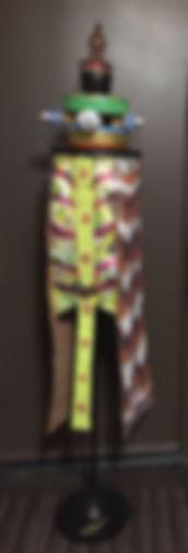Urhowata Sentinel mixed media-1 72x12x12 20200313