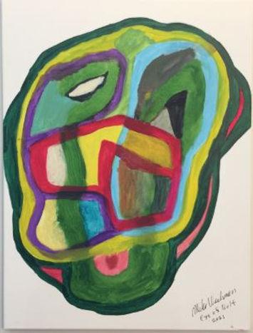 Eye of Wolf acrylic on canvas 24x18 2021