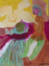 Adoration of the Mangoose acrylic on canvas  20200623
