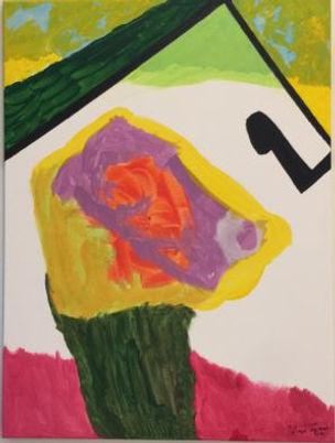 Noted Dog House acrylic on canvas 24x18