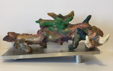 The Last Longwort front driftwood clay acrylic 7x21x9  20200121