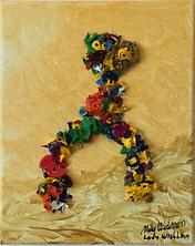 Lady Wishbone acrylic on canvas 10x8 20190901