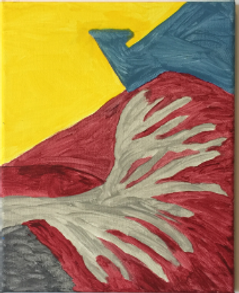 Uprooted acrylic on canvas 10x8 20190906