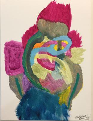 Madam Flower acrylic on canvas 24x18 202