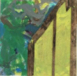 acrylic and wood veneer on mason board  12x12  201